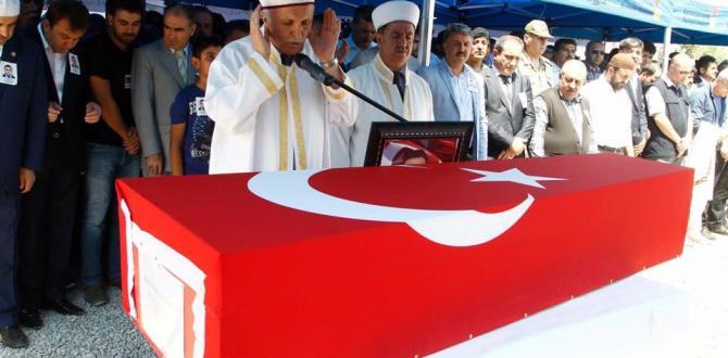 Şehid Polis Memuru Durmuş Polat Gözyaşlarıyla Ebediyete Uğurlandı.