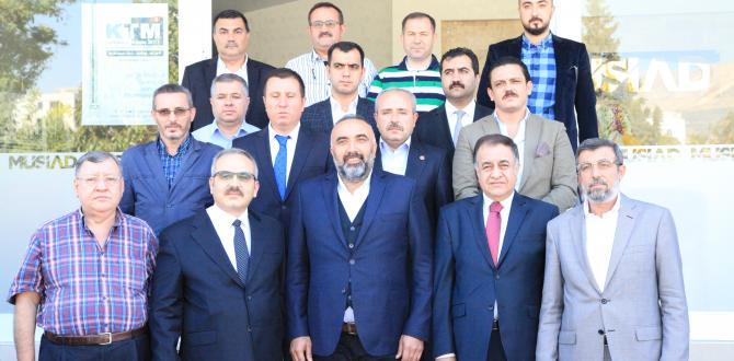 TÜMSİAD ŞUBE BAŞKANI TOPRAK'TANMÜSİAD'A NEZAKET ZİYARETİ