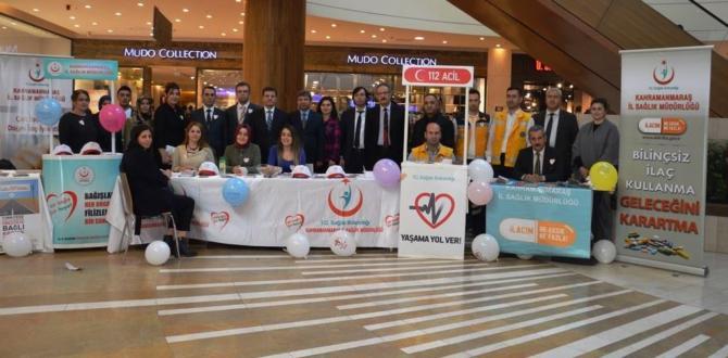 Kahramanmaraş'ta Organ Bağış Standı Açıldı.
