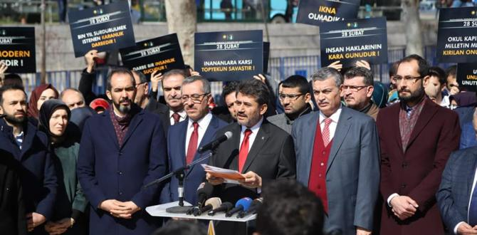 28 Şubat Protesto Edildi.
