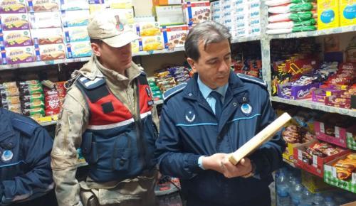 Afşin'de Jandarma ve Zabıtadan Birlikte Denetim.