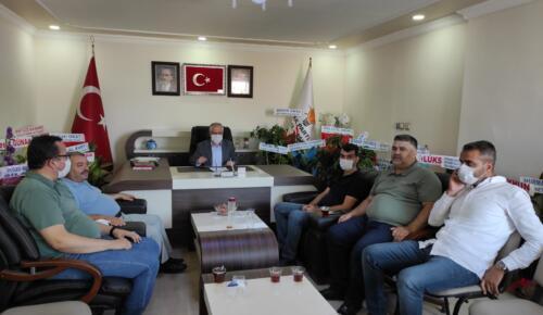 Afşin Baro Temsilcilerinden Ak Parti'ye Zİyaret!
